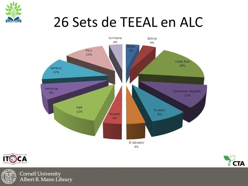 26 Sets de TEEAL en ALC