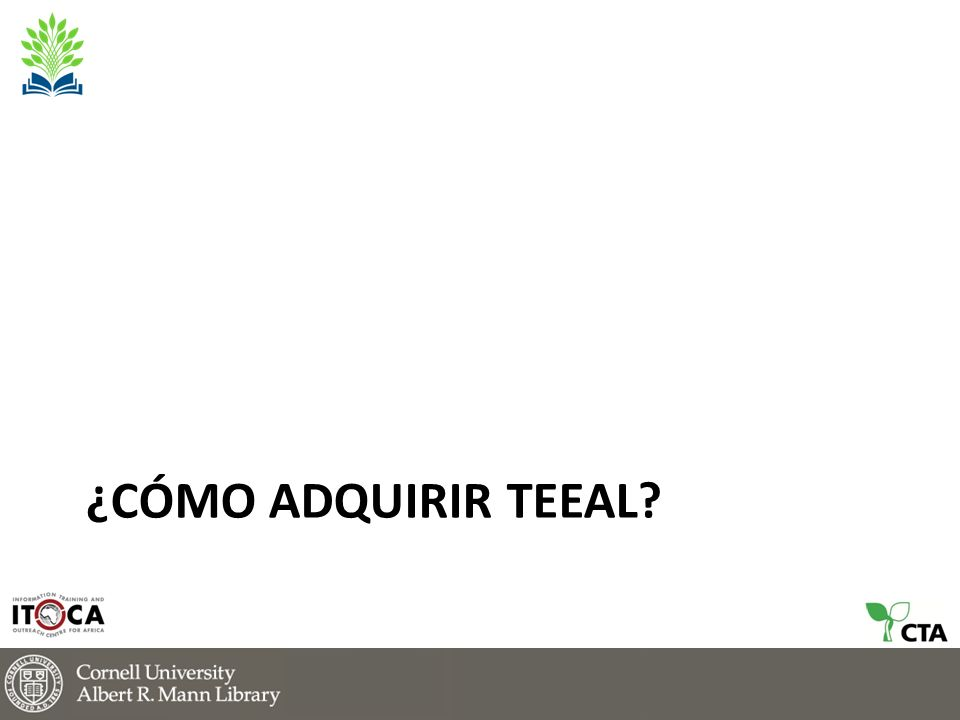 ¿CÓMO ADQUIRIR TEEAL