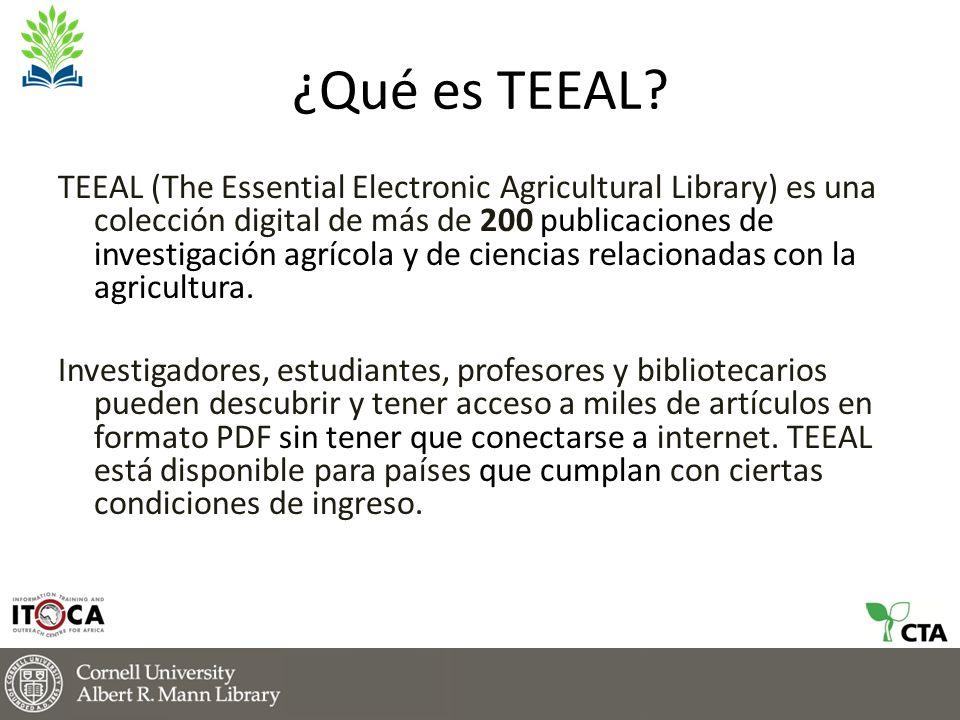 Lo que opinan los usuarios de TEEAL TEEAL sirve como material de referencia en las áreas de biología, biología aplicada y ciencias agrícolas tanto para profesores como para estudiantes.
