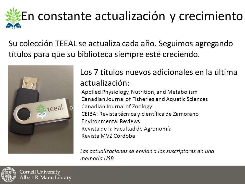 En constante actualización y crecimiento Su colección TEEAL se actualiza cada año.