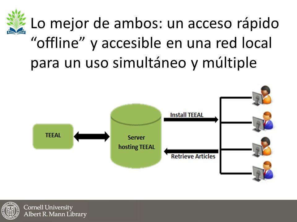 Lo mejor de ambos: un acceso rápido offline y accesible en una red local para un uso simultáneo y múltiple