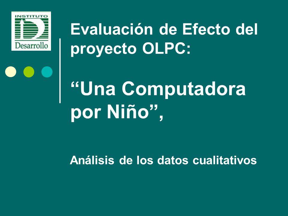 Evaluación de Efecto del proyecto OLPC: Una Computadora por Niño, Análisis de los datos cualitativos