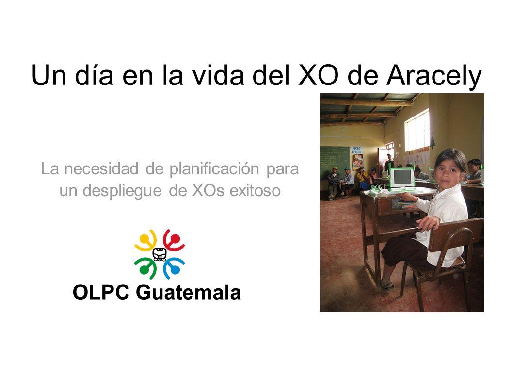 Un día en la vida del XO de Aracely OLPC Guatemala La necesidad de planificación para un despliegue de XOs exitoso