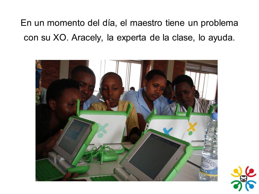 En un momento del día, el maestro tiene un problema con su XO.