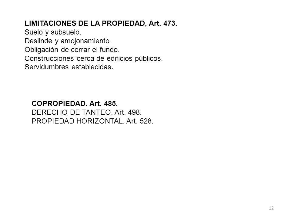 LIMITACIONES DE LA PROPIEDAD, Art.473. Suelo y subsuelo.
