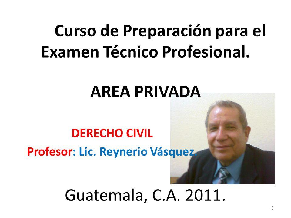 Curso de Preparación para el Examen Técnico Profesional.