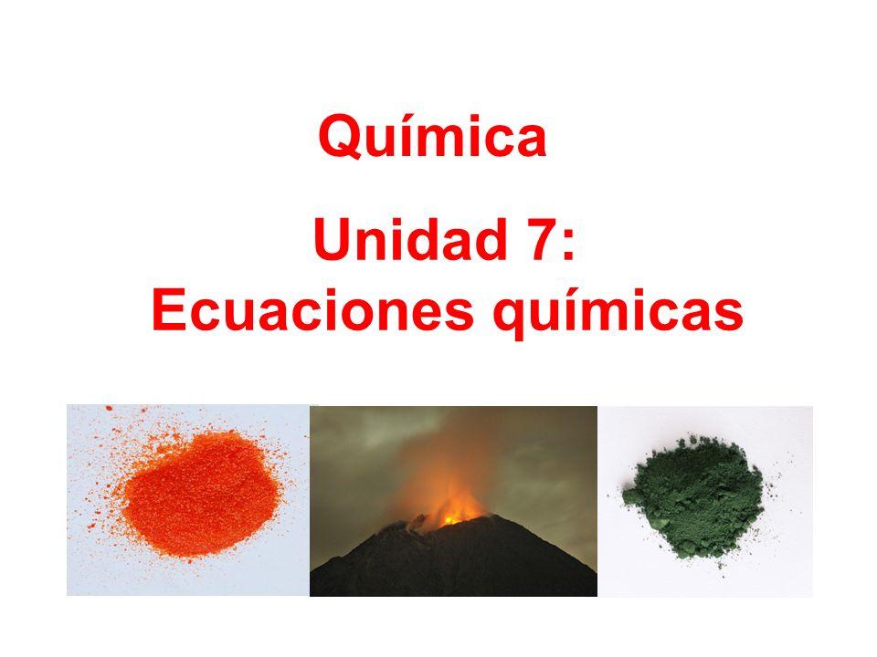 Unidad 7: Ecuaciones químicas Química