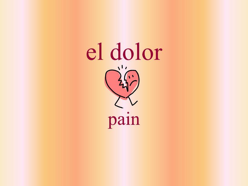 el dolor pain