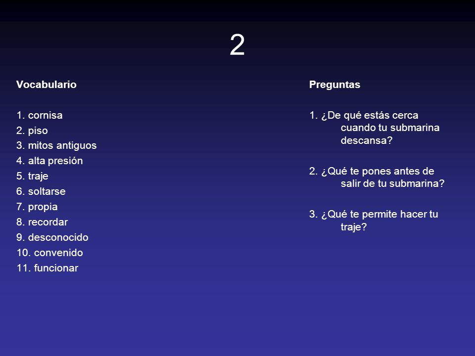23 Vocabulario 1.revisar 2. apretar 3. empujar 4.