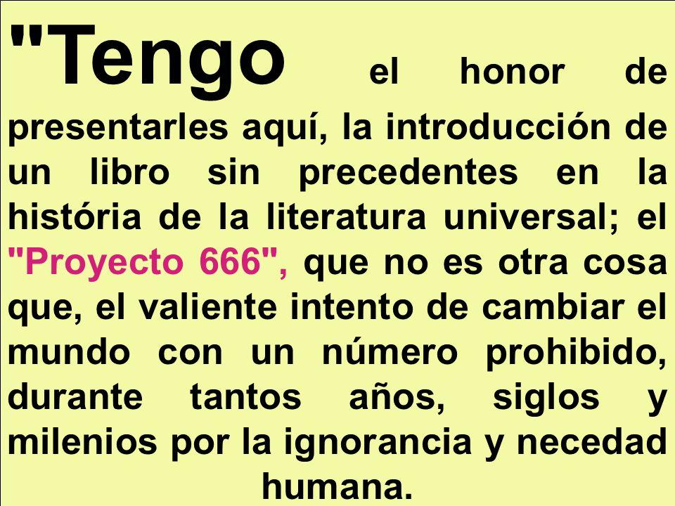 Europa El Proyecto 666 para la Unión Europea es, LA CREACIÓN DE UN NUEVO SISTEMA POLÍTICO, ECONÓMICO Y SOCIAL CON EL NÚMERO 666 que, según La Biblia cristiana,representa al Anticristo , Satanás , y al Diablo , -para citar ejemplos-, pero que el Proyecto 666 demuestra que es todo lo contrario: