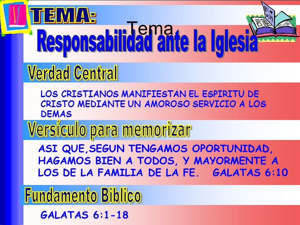 LOS CRISTIANOS MANIFIESTAN EL ESPIRITU DE CRISTO MEDIANTE UN AMOROSO SERVICIO A LOS DEMAS ASI QUE,SEGUN TENGAMOS OPORTUNIDAD, HAGAMOS BIEN A TODOS, Y