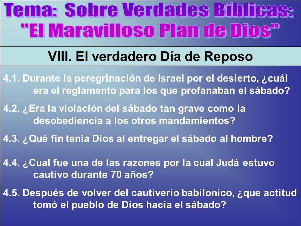 El Sábado, Antes De Cristo B VIII. El verdadero Día de Reposo 4.1. Durante la peregrinación de Israel por el desierto, ¿cuál era el reglamento para lo