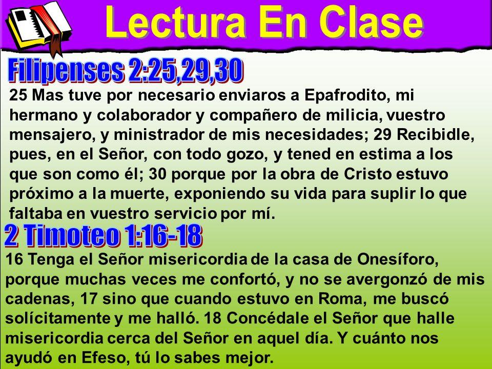 Tema LOS QUE HAN CREIDO EN CRISTO SON COMPAÑEROS EN LA FE Y EN EL MINISTERIO.