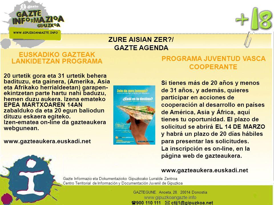 OSASUN-PUNTTUA / X TU SALUD HIESAREN TEST AZKARRA HIESAREN TEST AZKARRA modu anonimoan egiteko 20 farmazia dituzu Euskal Herrian, 6 GIPUZKOAN.