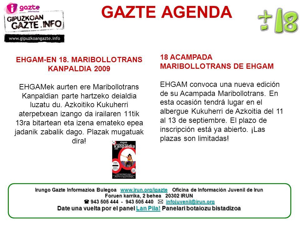 GAZTE AGENDA EHGAM-EN 18.