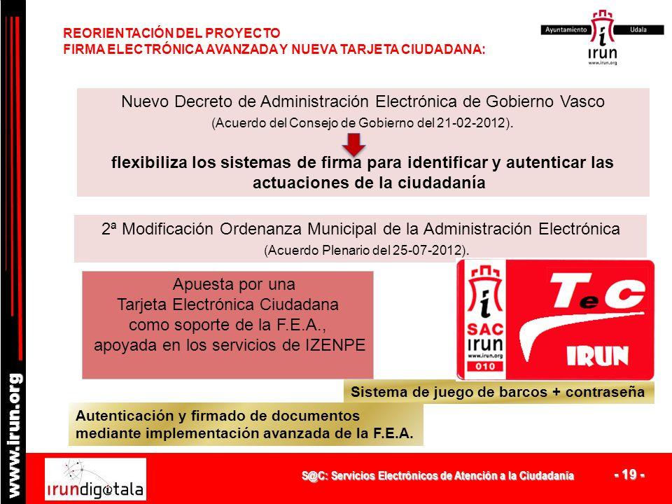 S@C: Servicios Electrónicos de Atención a la Ciudadanía - 18 - www.irun.org COMBATIENDO LA DIFICULTAD DE EXTENDER LA e-ADMINISTRACIÓN: RESULTADOS ENCU