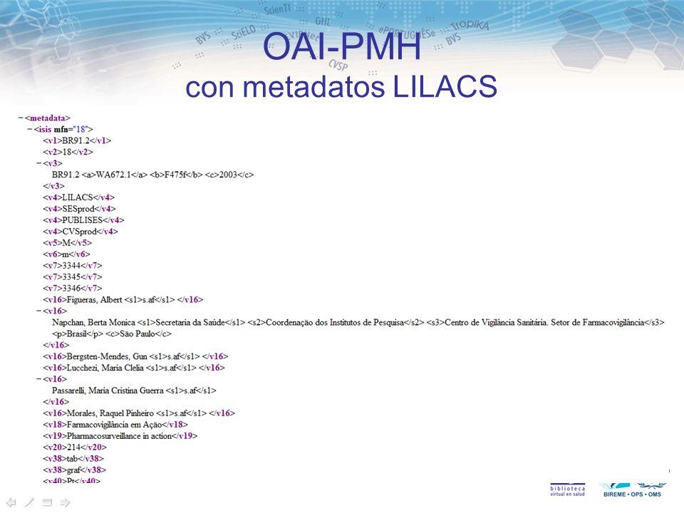 OAI-PMH con metadatos LILACS