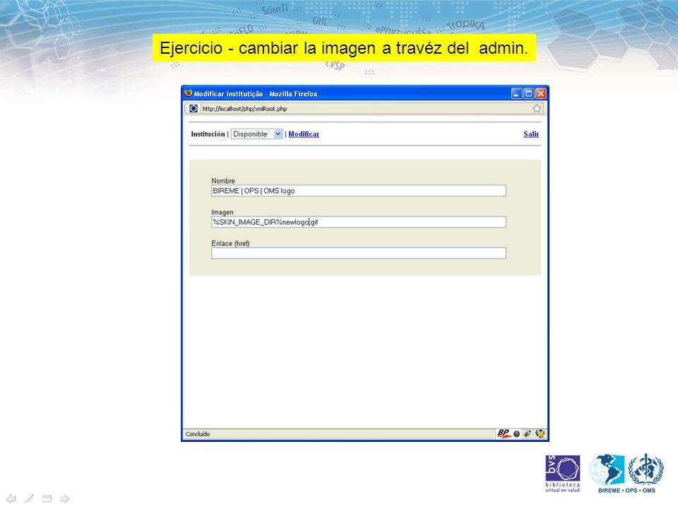 Ejercicio - cambiar la imagen a travéz del admin.