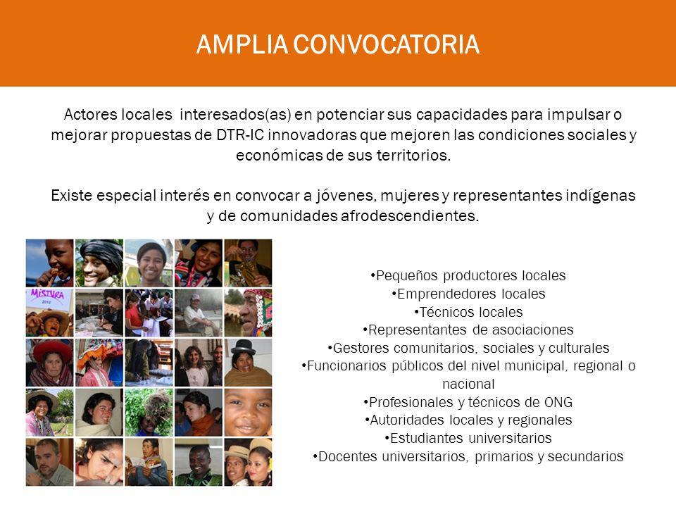 Impulsar estrategias de desarrollo territorial con identidad en diálogo y concertación entre actores diversos, desde contenidos diversos.