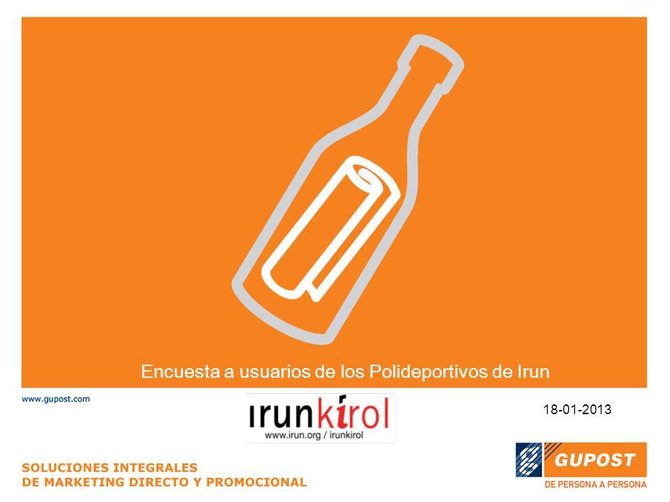 Encuesta a usuarios de los Polideportivos de Irun 18-01-2013