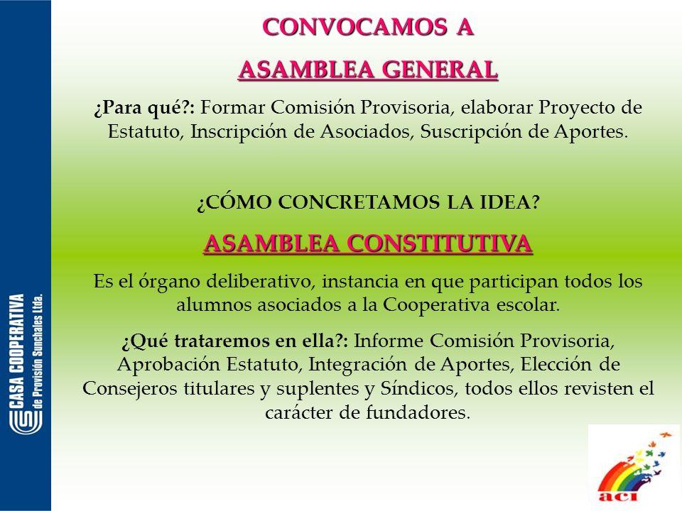 Consejo de Administración: Es elegido por asamblea y está encargado de administrar los recursos de la cooperativa.