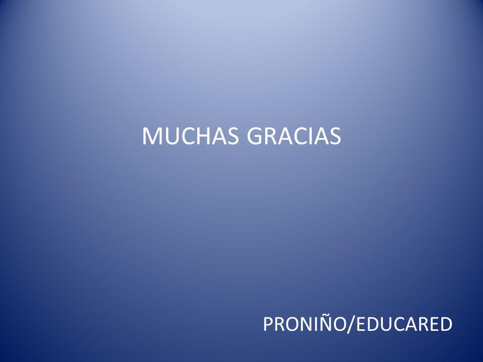 MUCHAS GRACIAS PRONIÑO/EDUCARED