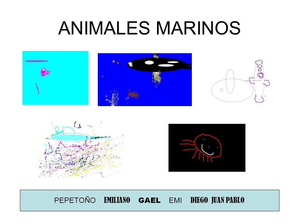 ANIMALES MARINOS PEPETOÑO EMILIANO GAEL EMI DIEGO JUAN PABLO