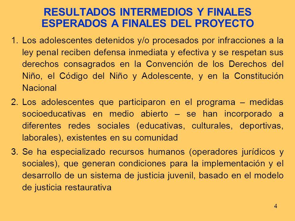 3 OBJETIVO GENERAL DEL PROYECTO En diciembre de 2007, en dos distritos piloto (José Leonardo Ortiz y El Agustino), se ha validado un modelo de Justici
