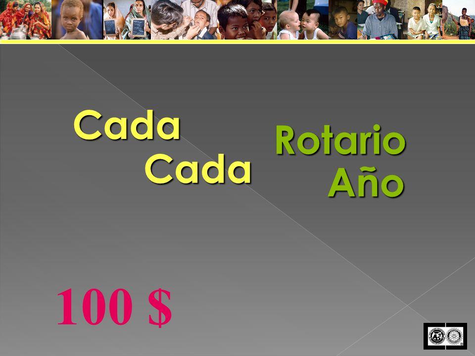 CadaCadaRotario Año 100 $