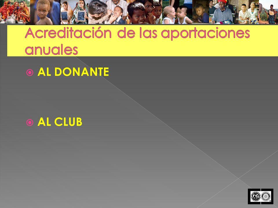 AL DONANTE AL CLUB