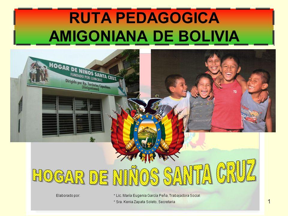 1 RUTA PEDAGOGICA AMIGONIANA DE BOLIVIA Elaborado por:* Lic.
