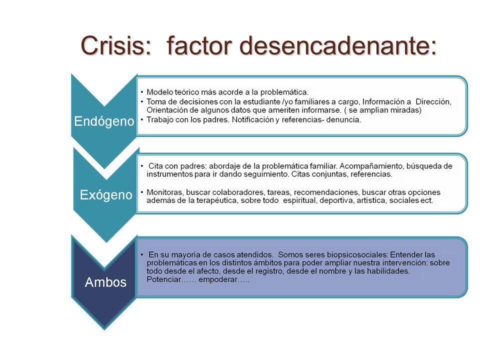 Crisis: factor desencadenante: