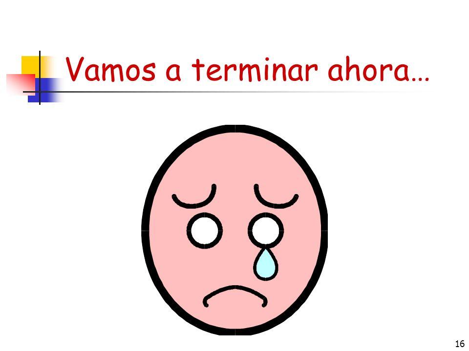 15 Estar = to be (emotions/location ) Yo estoyNosotros/as estamos Tú estás Él / ella / Ud.