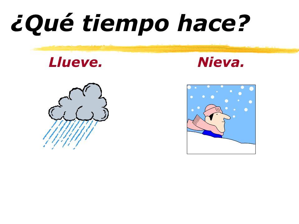 ¿Qué tiempo hace? Está nublado.