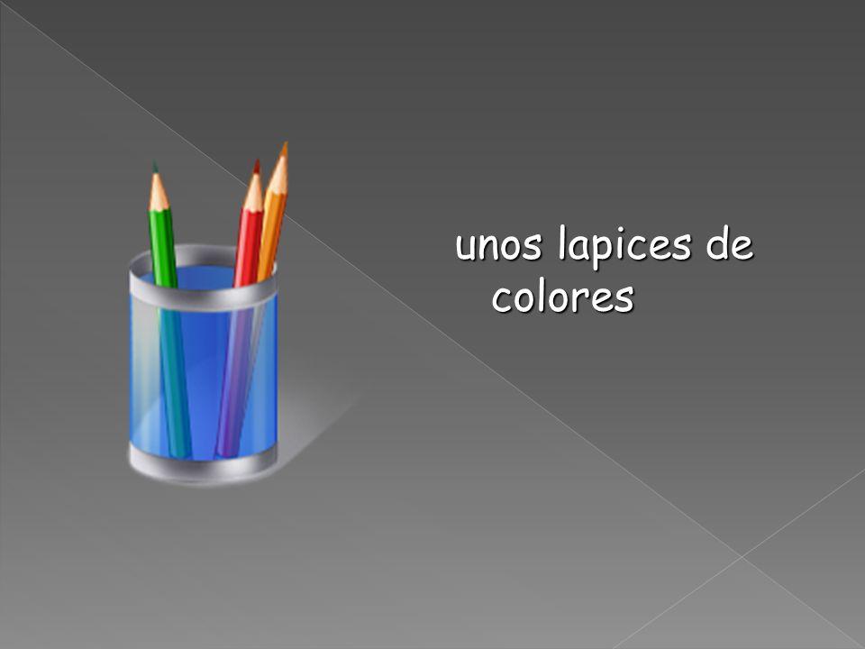 unos lapices de colores