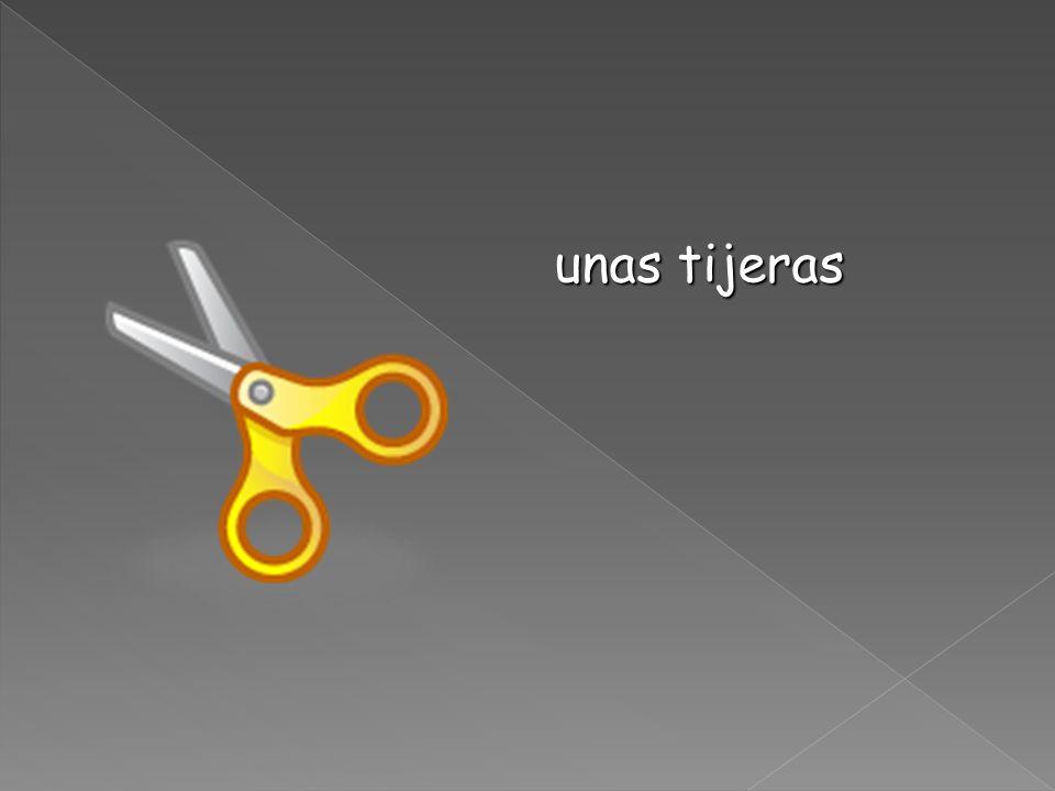 unas tijeras