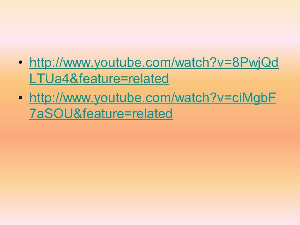 http://www.youtube.com/watch?v=8PwjQd LTUa4&feature=relatedhttp://www.youtube.com/watch?v=8PwjQd LTUa4&feature=related http://www.youtube.com/watch?v=