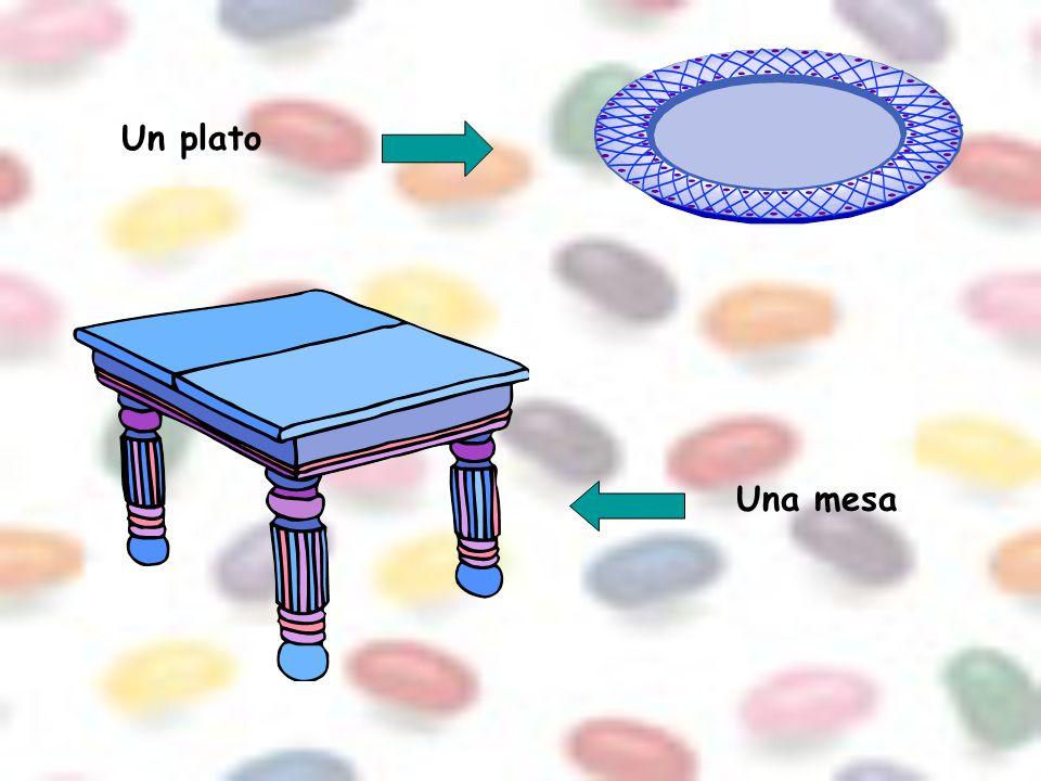 Un plato Una mesa