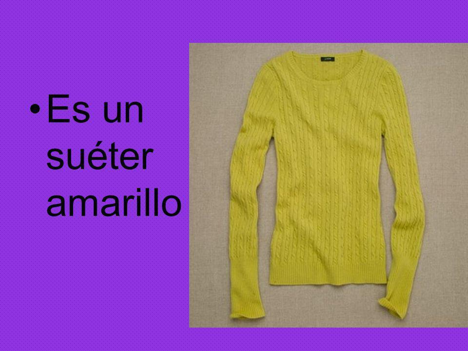 Es un suéter amarillo