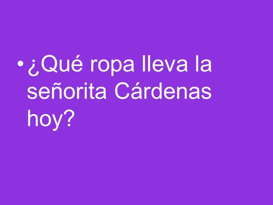 ¿Qué ropa lleva la señorita Cárdenas hoy?