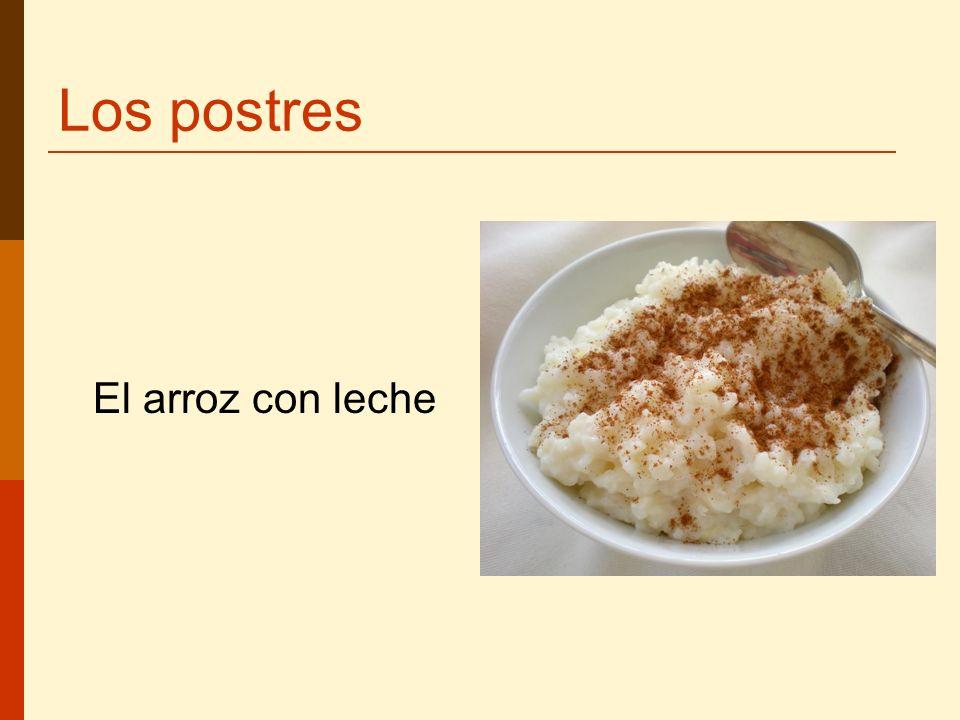 Los postres El arroz con leche