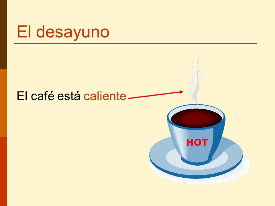 El café está caliente HOT