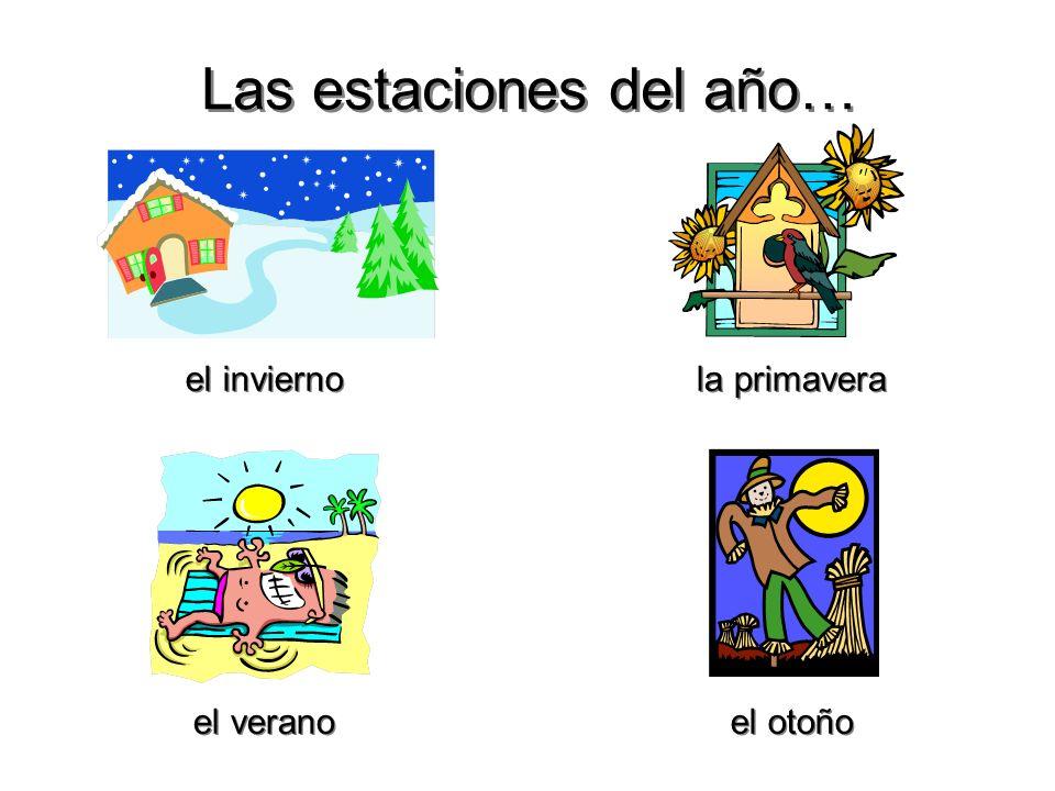 4 Vocabulario sobre el calendario… Vocabulario sobre el calendario… hoy mañana ayer el fin de semana anteayer today tomorrow yesterday the weekend the