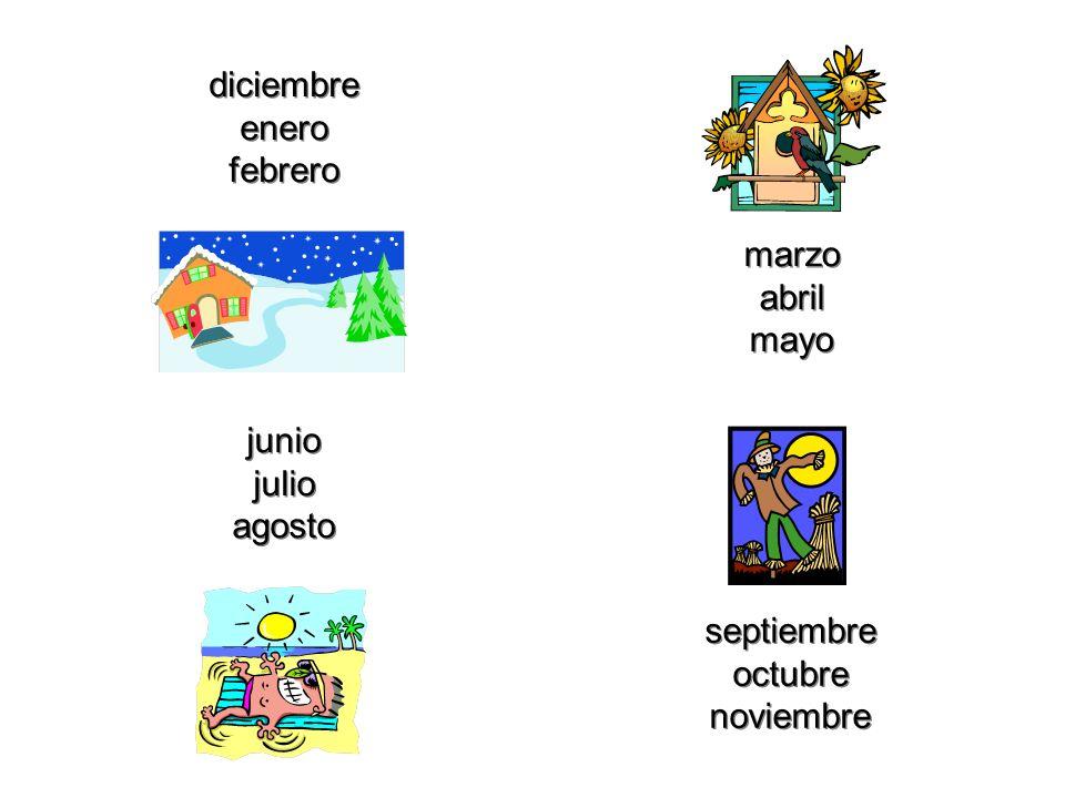 5 Las estaciones del año… el invierno la primavera el verano el otoño