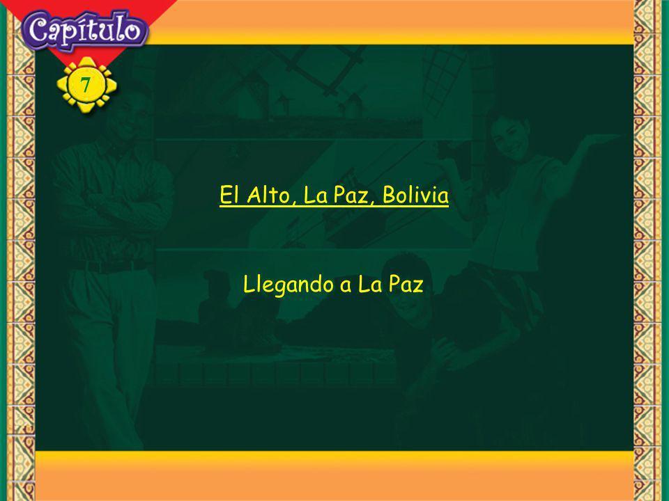 7 El Alto, La Paz, Bolivia Llegando a La Paz