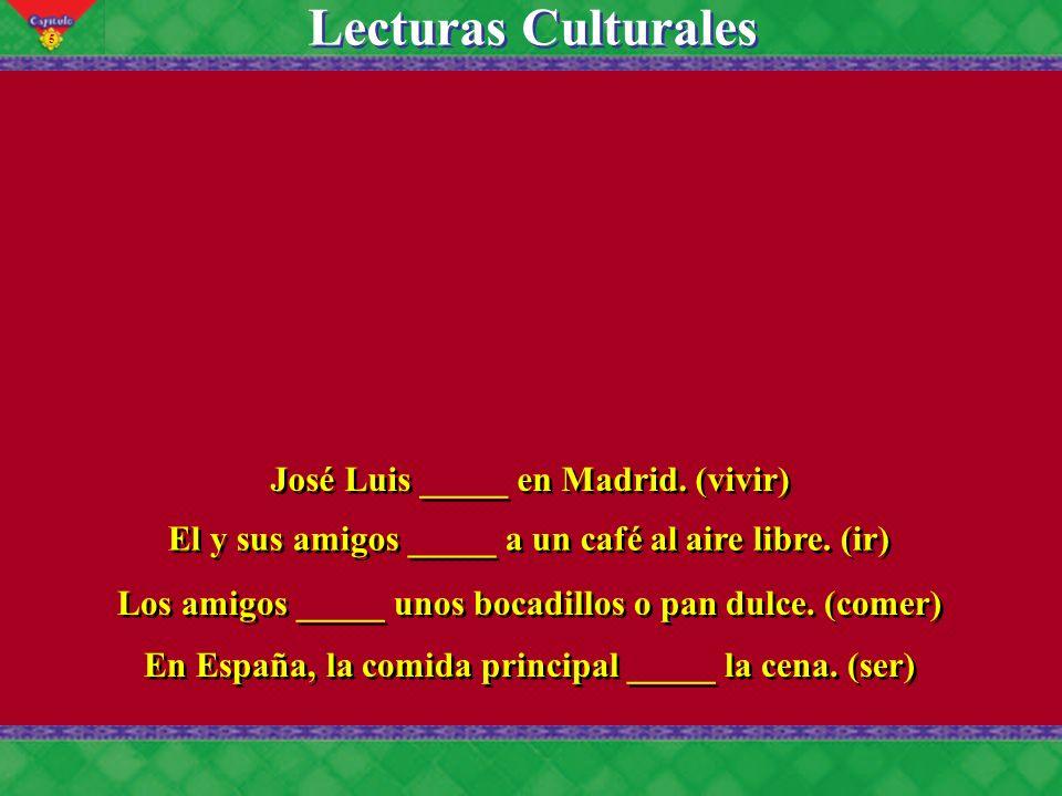 5 Lecturas Culturales José Luis _____ en Madrid.