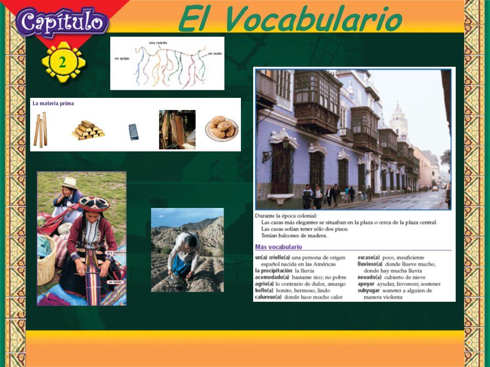 2 El Vocabulario