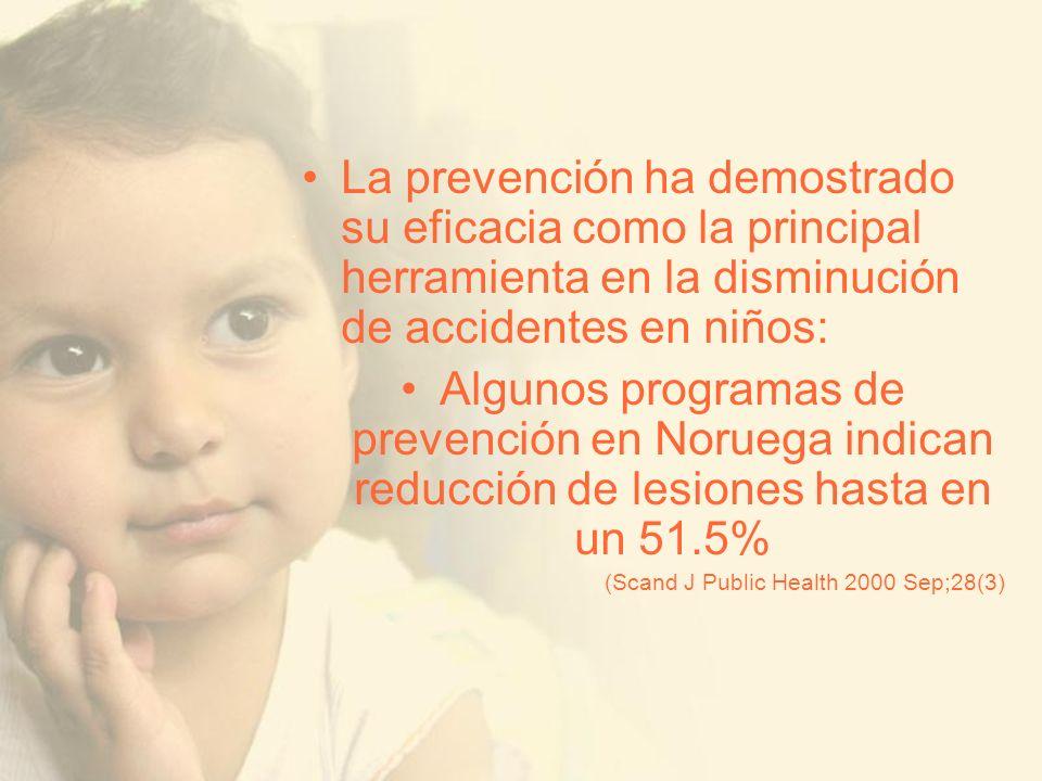 La prevención ha demostrado su eficacia como la principal herramienta en la disminución de accidentes en niños: Algunos programas de prevención en Nor