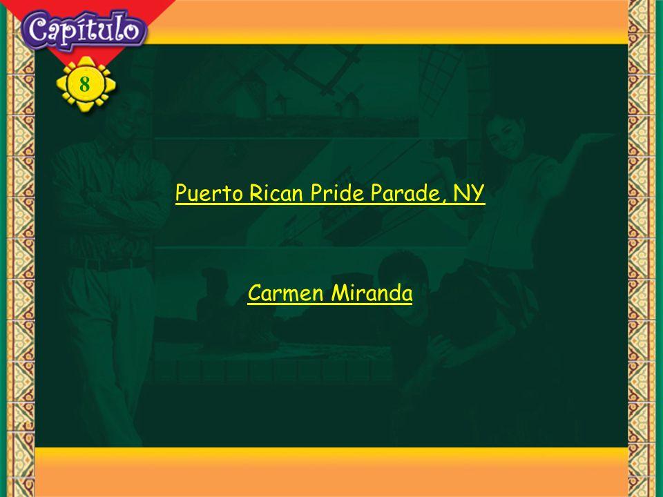 8 Puerto Rican Pride Parade, NY Carmen Miranda