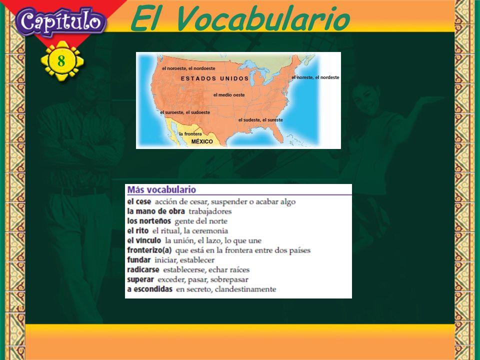 8 El Vocabulario